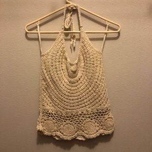 Tops - Crochet festival halter top
